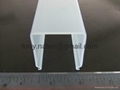 Frosted PMMA extrusion Profiles,LED light diffuser,PMMA diffuser ,PMMA profiles 4