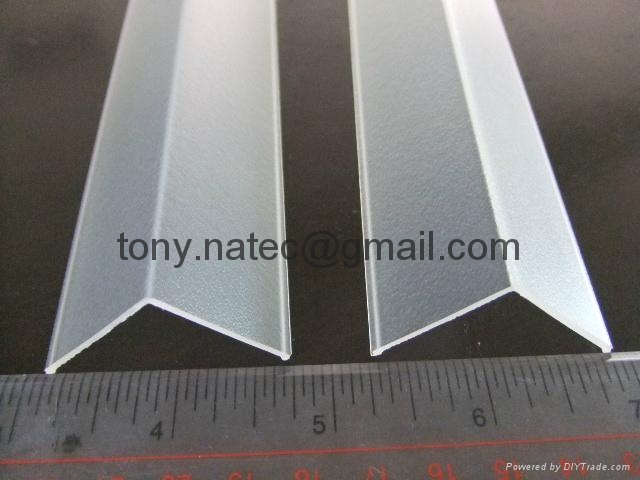 Frosted PMMA extrusion Profiles,LED light diffuser,PMMA