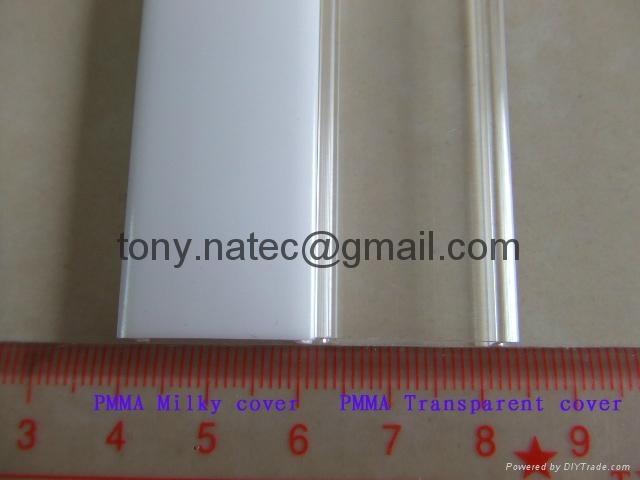 LED Strip Profile,PMMA diffuser,pmma frosted cover 1