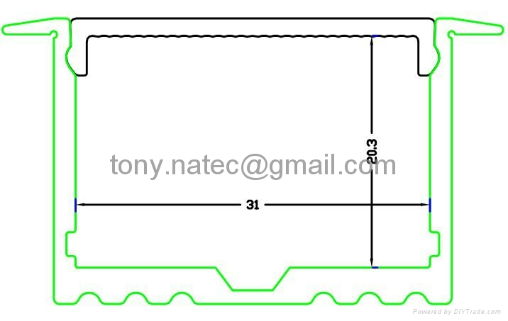 Master XL LED Strip Profile,Recessed Power line 35mm for ceiling LED lighting