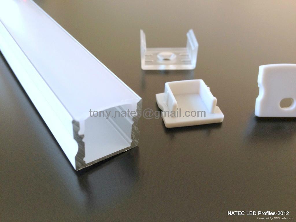 SLIM LINE 15mm profile,led strip profile,Surface mounted linear LED profile 4