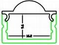 led lens diffusor,LED Profile with 30 degree,aluminum bar for led light