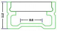 led ground profile,LED floor nosing Profile,LED Wall profile