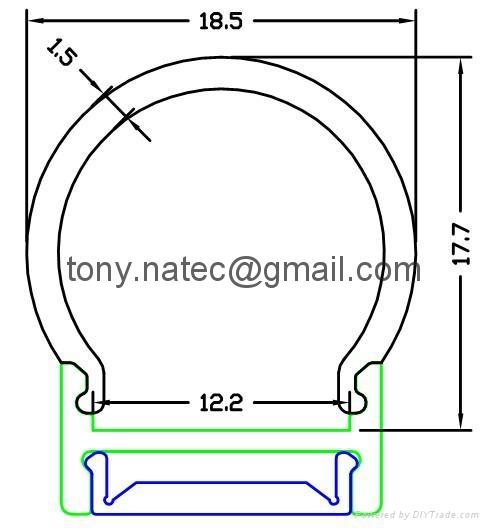 led diffuser cover,pc opal cover,Aluminum led profiles 1