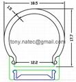 led diffuser cover,pc opal cover,Aluminum led profiles