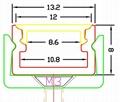 LED under cabinet profile,Surface