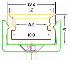 LED under cabinet profile,Surface mounted linear LED profile