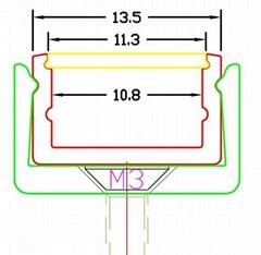 Aluminum LED Profile,pmma frost cover,led surface mounted profiles