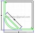 Aluminum LED profile,30x30mm led corner