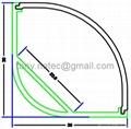 30x30mm led profile, led corner profile