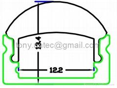 led profile with 60 degree,LED lens profile,LED ALU profili