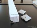 Aluminum LED profile,30x30mm led corner profile,PMMA frosted diffuser