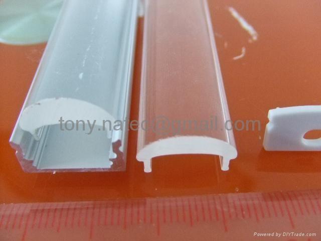 Aluminum LED profiles, Aluminum LED profile with optic lens 60Degree 1
