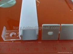 LED Aluminum Extrusions, LED Profiles with opal diffuser