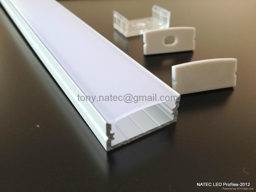 Surface Mounting 10mm Flat Profiles Led System Profile Led