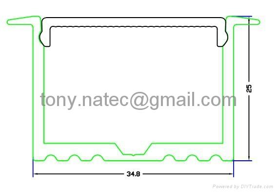 LED Profiles, aluminium led lighting profile,led glass profile