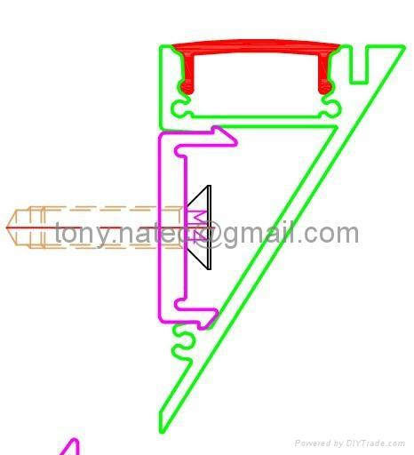 led wall profile,Recessed Aluminium LED Profile (Extrusion)