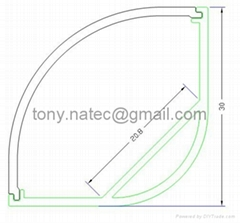 30x30mm Corner LED Strip Mounting Profile,led profile