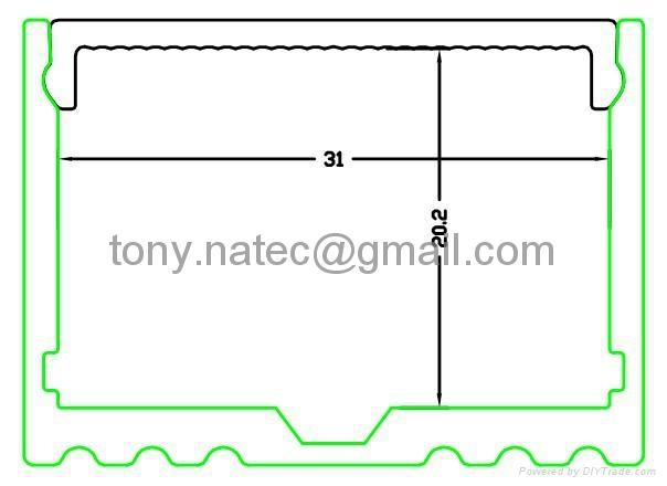 surface Power line 35x25mm for ceiling lighting, CoverLine Aluminium LED Profile 1