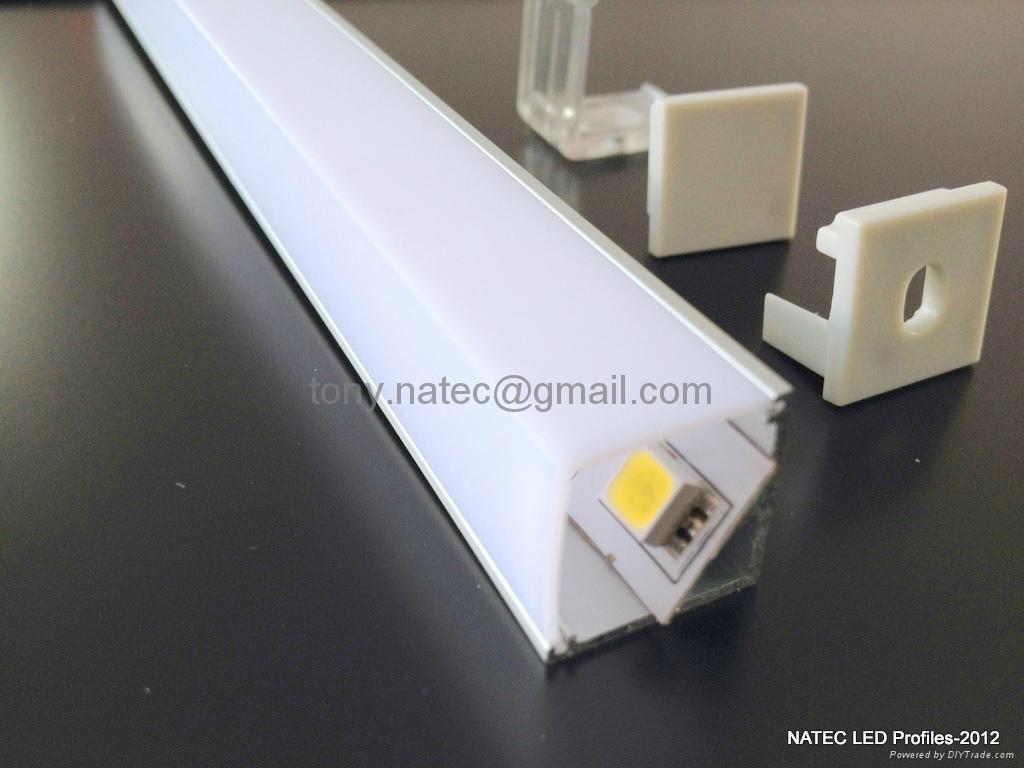 led corner profiles aluminum led strip profiles alu 45 led profiles. Black Bedroom Furniture Sets. Home Design Ideas