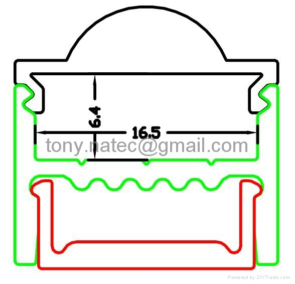 LED Profiles Extrusions, extrusions for LED,led lens profile 1