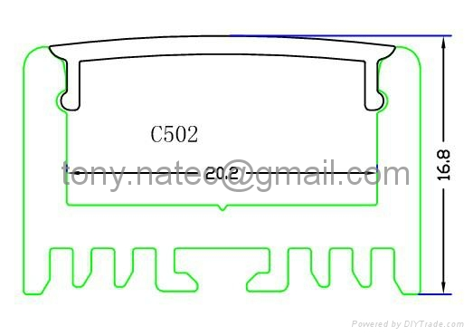 for high power led profile,Aluminum LED Channel  1