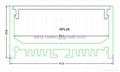 LED Channel Systems,suspension kit Aluminium led profile with opal cover-48mm 1
