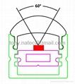 led lens profile with 60 degree,LED Track profiles,led Lens profile 5