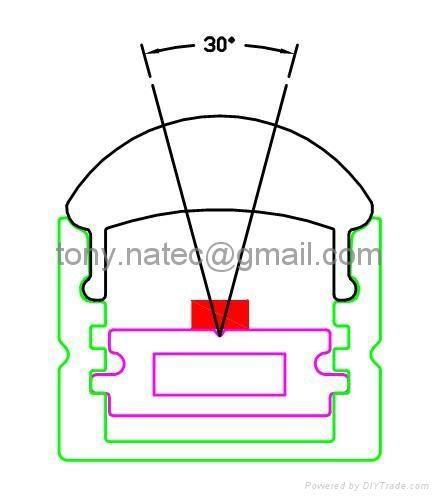 LED Lenses  profile with 30 degree,led aluminum profile 5