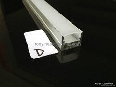 aluminum channel  with clear diffuser ,aluminium system profile