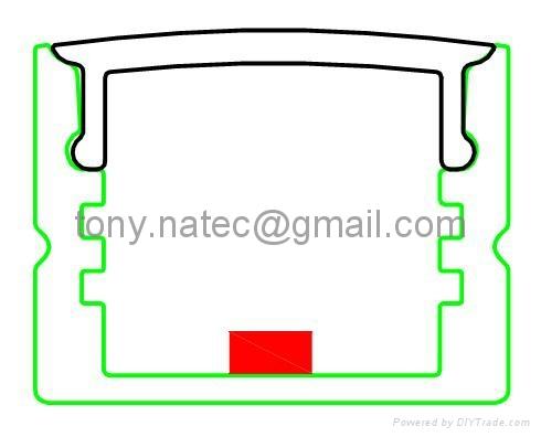 aluminium profiles for led lighting,aluminium led housing 2