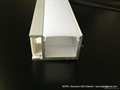 aluminum channel  with frosted diffuser ,led wall profile 3