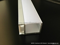 aluminum channel  with frosted diffuser ,led wall profile 4
