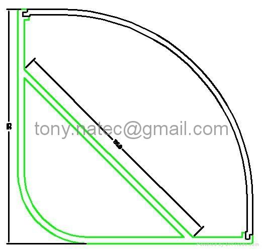 55x55mm led corner profile for wall solutions,led aluminum profile 4