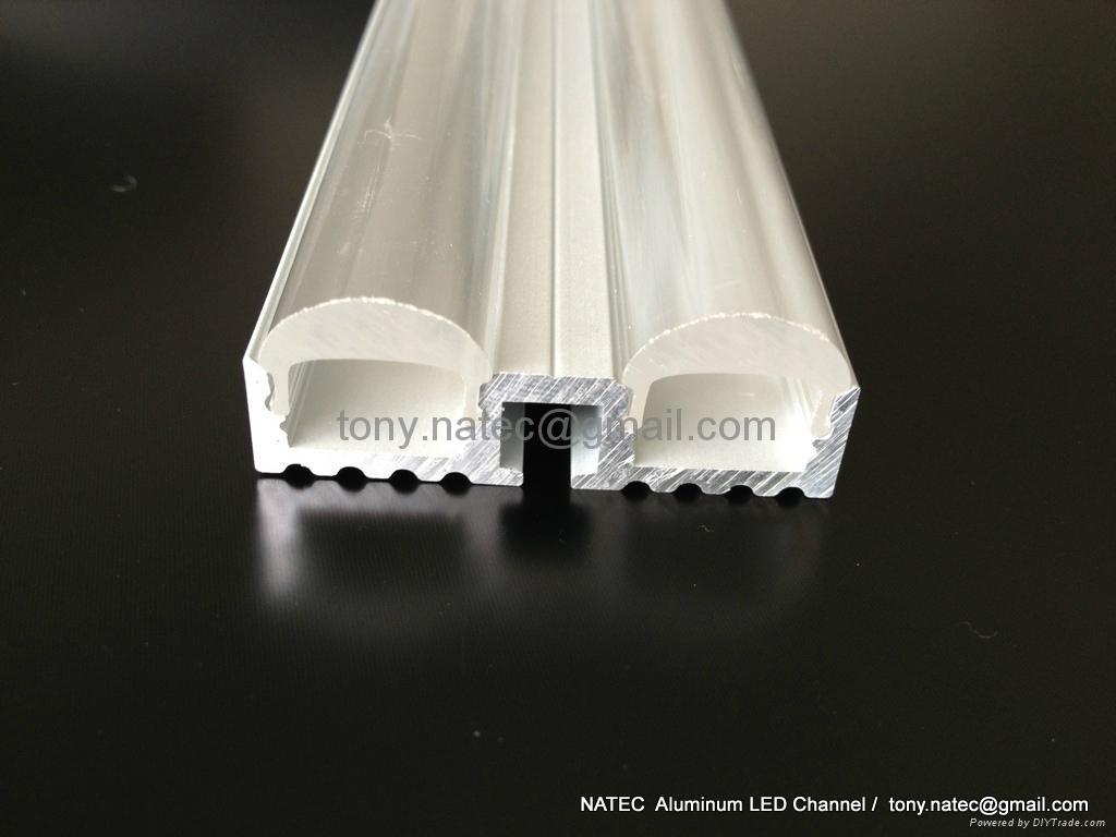 Double Lenses LED  profile with 60 degree,led Lens profile 5
