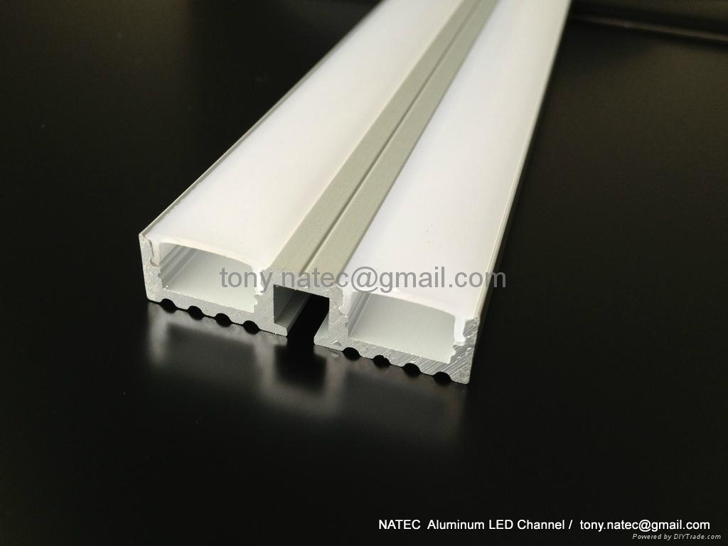 Surface mounting 10mm led profile, linear LED profile with frosted cover 1