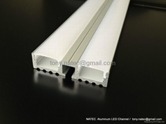 Surface mounting 10mm led profile, linear LED profile with frosted cover