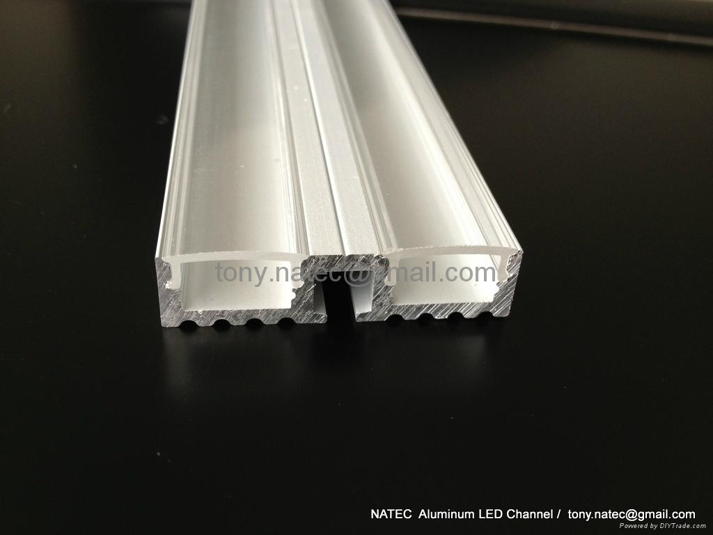 Surface mounting 10mm led profile, linear LED profile with frosted cover 4