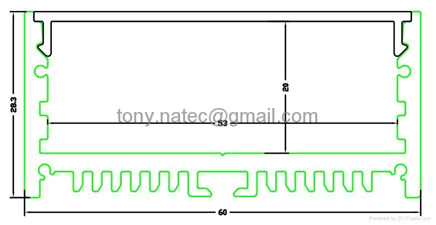 Aluminum Profile for LED strips,big prower led profile 2