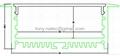Recessed Aluminium LED Profile (Extrusion)