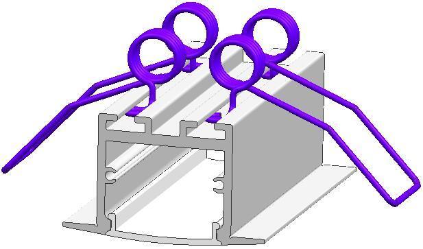 Aluminum LED profile with spring bracket