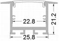 Aluminum LED profile with spring bracket 2