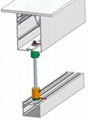 Power Supension System,suspension mounted Aluminum profile,,suspended wires