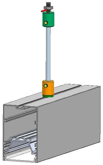 Power Supension System,suspension mounted Aluminum profile,,suspended wires  5