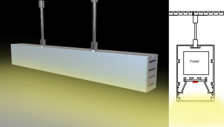 suspension mounted Aluminum led profile, led channel, led extrusion 5