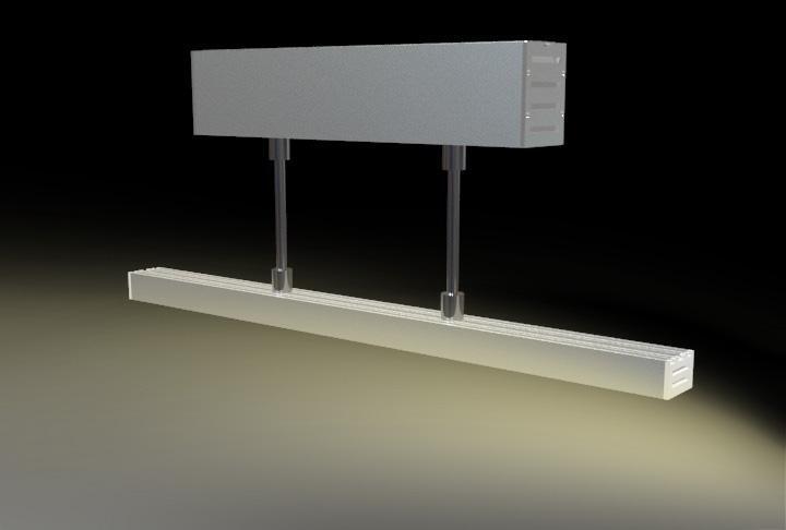 suspension mounted Aluminum led profile, led channel, led extrusion 7