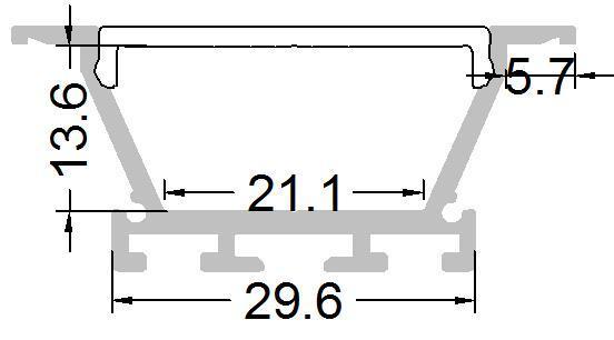 Recessed Ceiling Aluminum Profiles,aluminum led channel  2