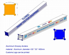 Grocery Lane Dividers;cashier lane divider;Checkout Dividers