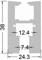 aluminum led edge lit profile