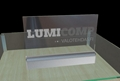 Acrylic LED Edge Lit Sign with Laser Engraving Logo, Acrylic Light Up Sign Desk